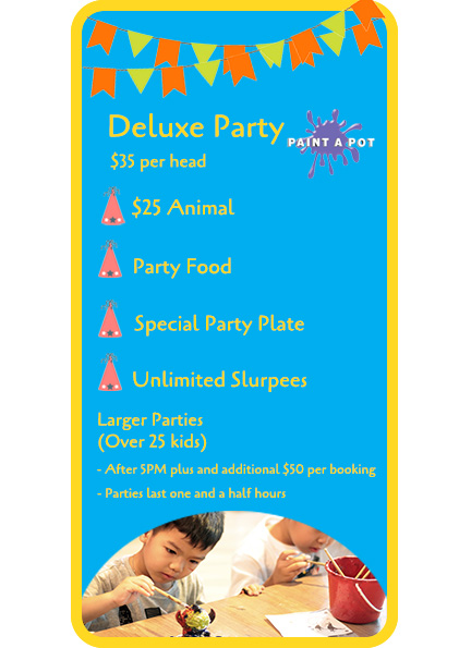 Deluxe Kids Party Packages