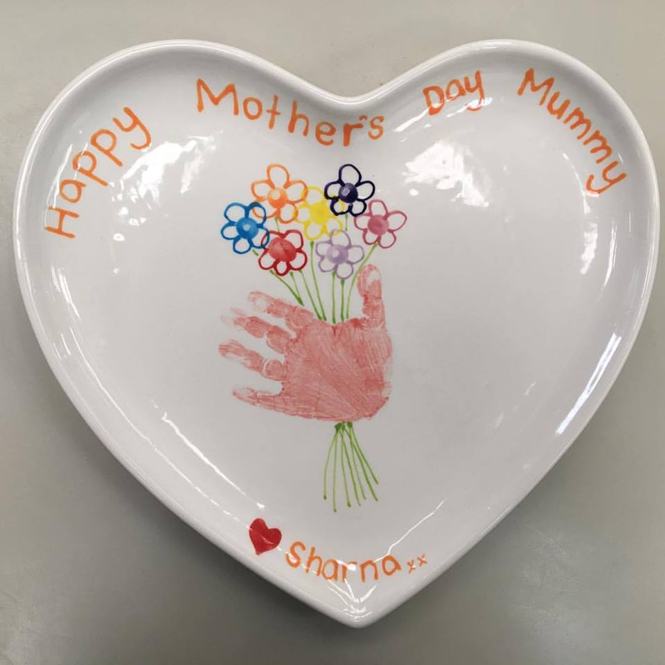 Paint a Pot - Mothers Day Gift Ideas - Plate